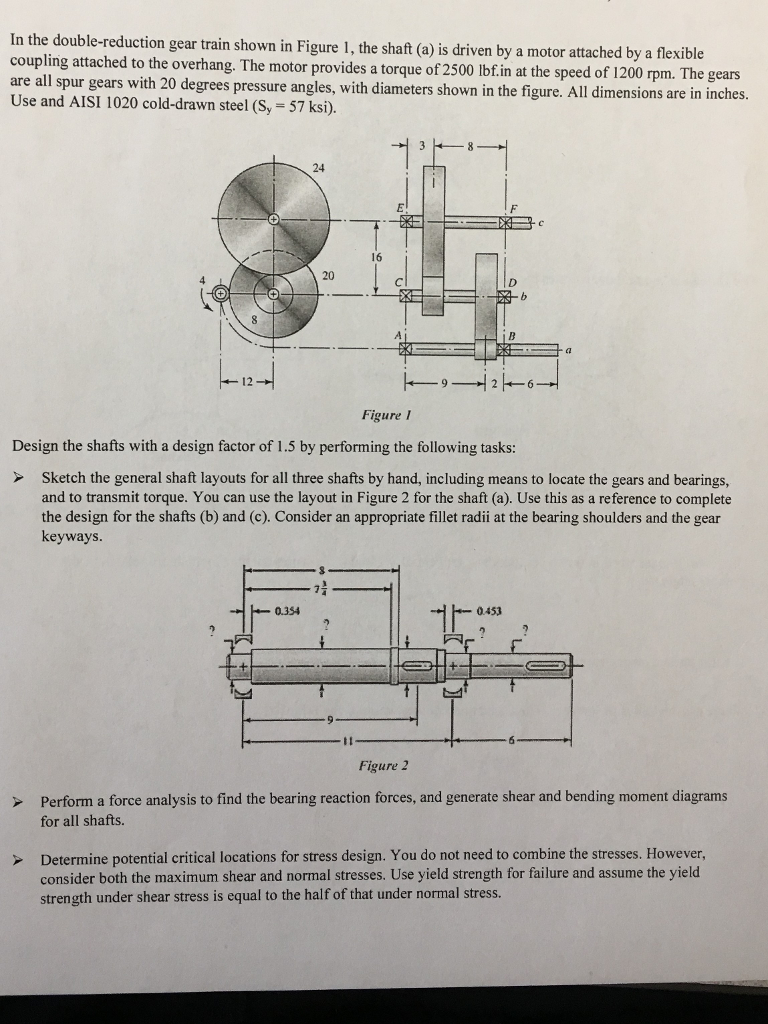 Solved in the double reduction gear train shown in figure in the double reduction gear train shown in figure 1 the shaft a pooptronica Choice Image