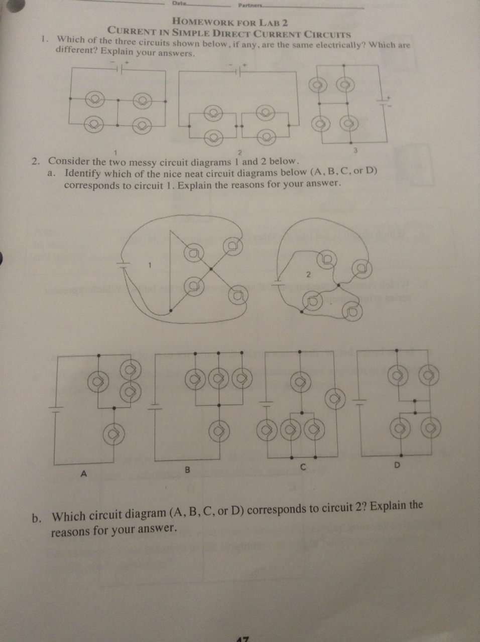 homework for lab 2 current in simple direct curren chegg com Series Circuit Diagrams circuit diagram nice