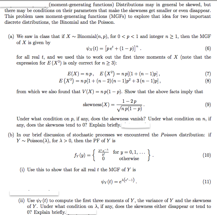 solved problems on generating moment function pdf
