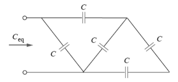 Calculate the equivalent capacitance Ceq in the fo