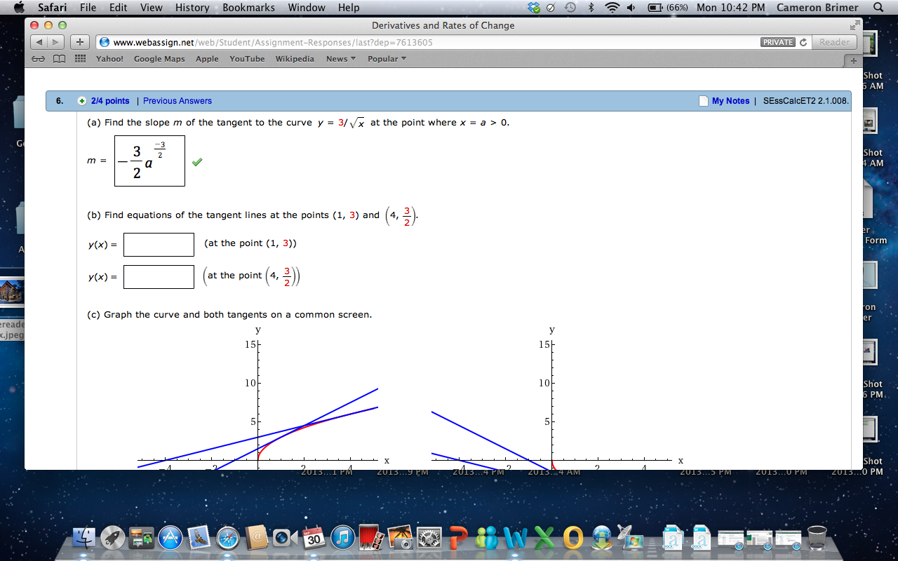 Find The Slope M Of The Tangent To The Curve Y = 3