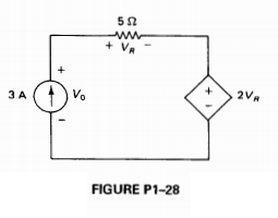 The circuit of Fig. P1-28 contains a VCVS. Determi