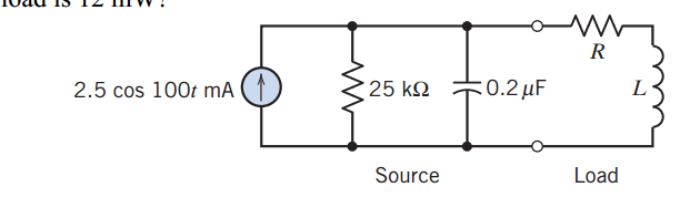 Is it possible to choose R and L for the circuit s
