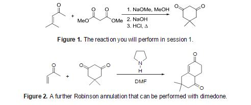 robinson annulation 2 Write an equation to illustrate the robinson annulation reaction identify the cyclic product formed when a 1,5‑diketone is treated with base identify the carbonyl compounds and any other reagents needed to synthesize a given cyclic compound by a series of reactions, one of which is a robinson.