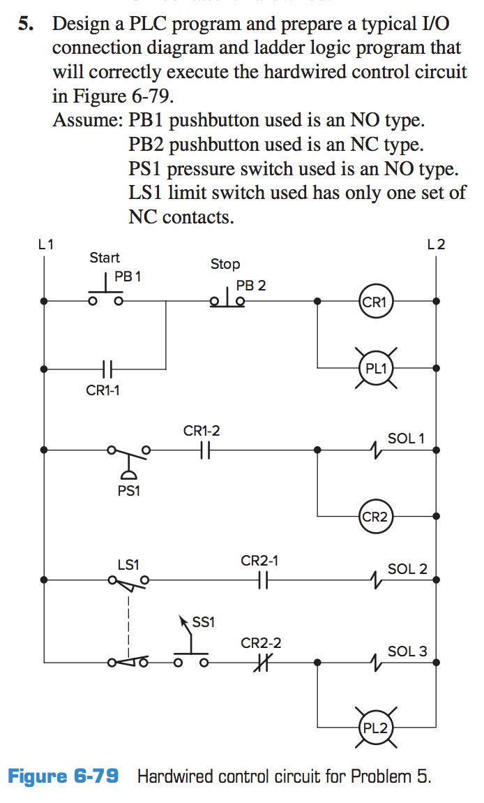 Design a plc program and prepare a typical io con chegg design a plc program and prepare a typical io connection diagram and ladder logic ccuart Choice Image