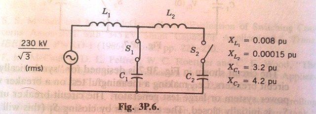 The circuit represents one phase of a three-phase