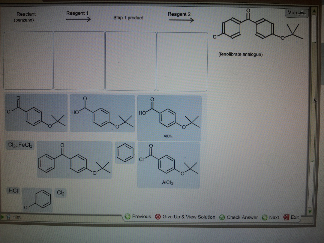 Please complet the two step synthesis of fenofibra