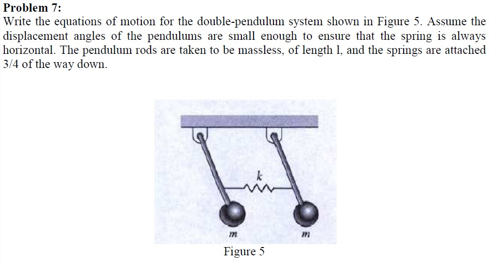 Write the equations of motion for the double-pendu