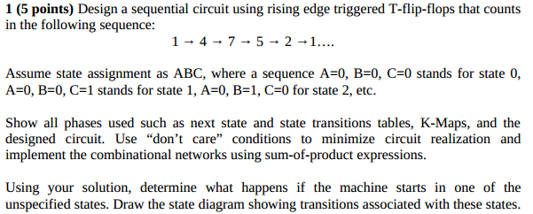 Design a sequential circuit using rising edge trig