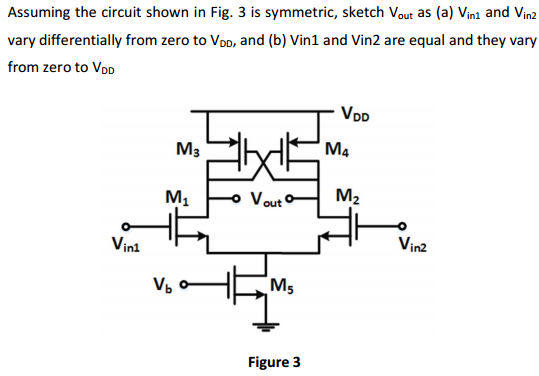 Assuming the circuit shown in Fig. 3 is symmetric,