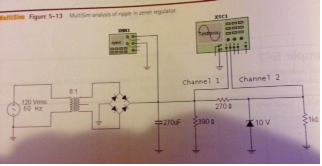 If we calculate the voltage is Fig. 5.13. Using th