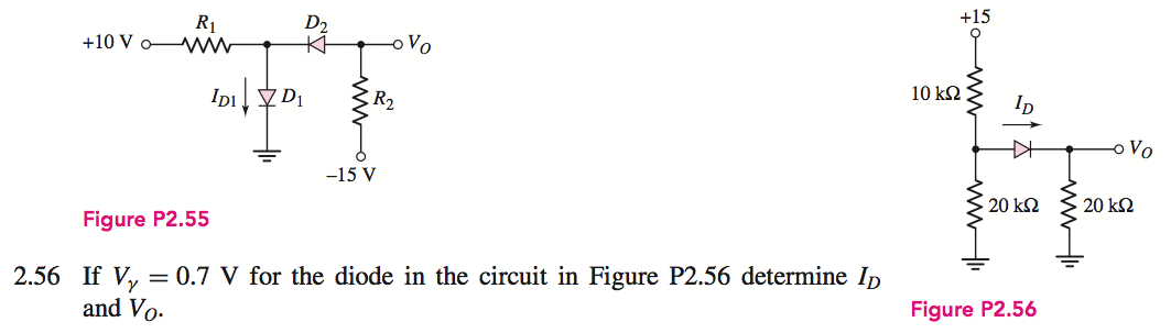 If Vgamma = 0.7 V for the diode in the circuit in
