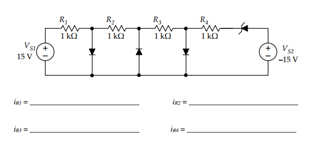For the two circuits below use the on/off model fo