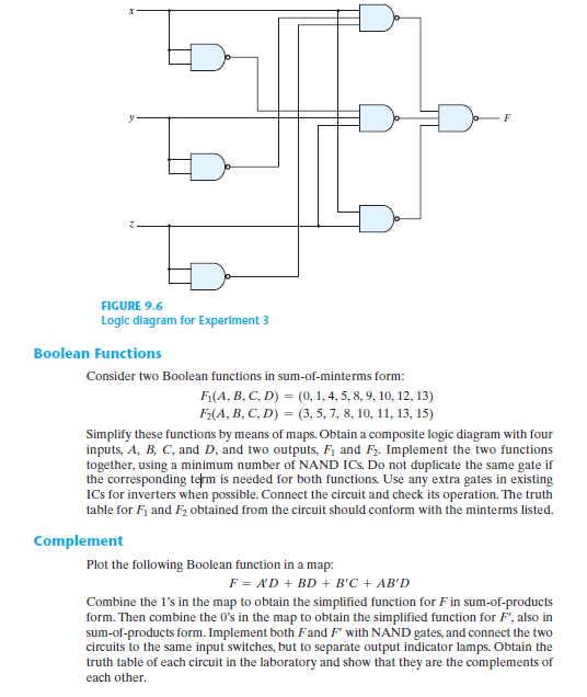 Logic diagram circuit wiring diagram solved 1 draw the logic diagram for each circuit listed logic circuit diagram maker complement on ccuart Choice Image