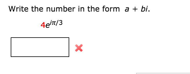 Write The Number In The Form A + Bi.   Chegg.com