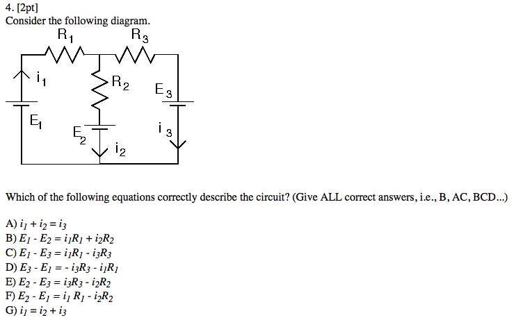Solved: Consider The Following Diagram. Which Of The Follo ...