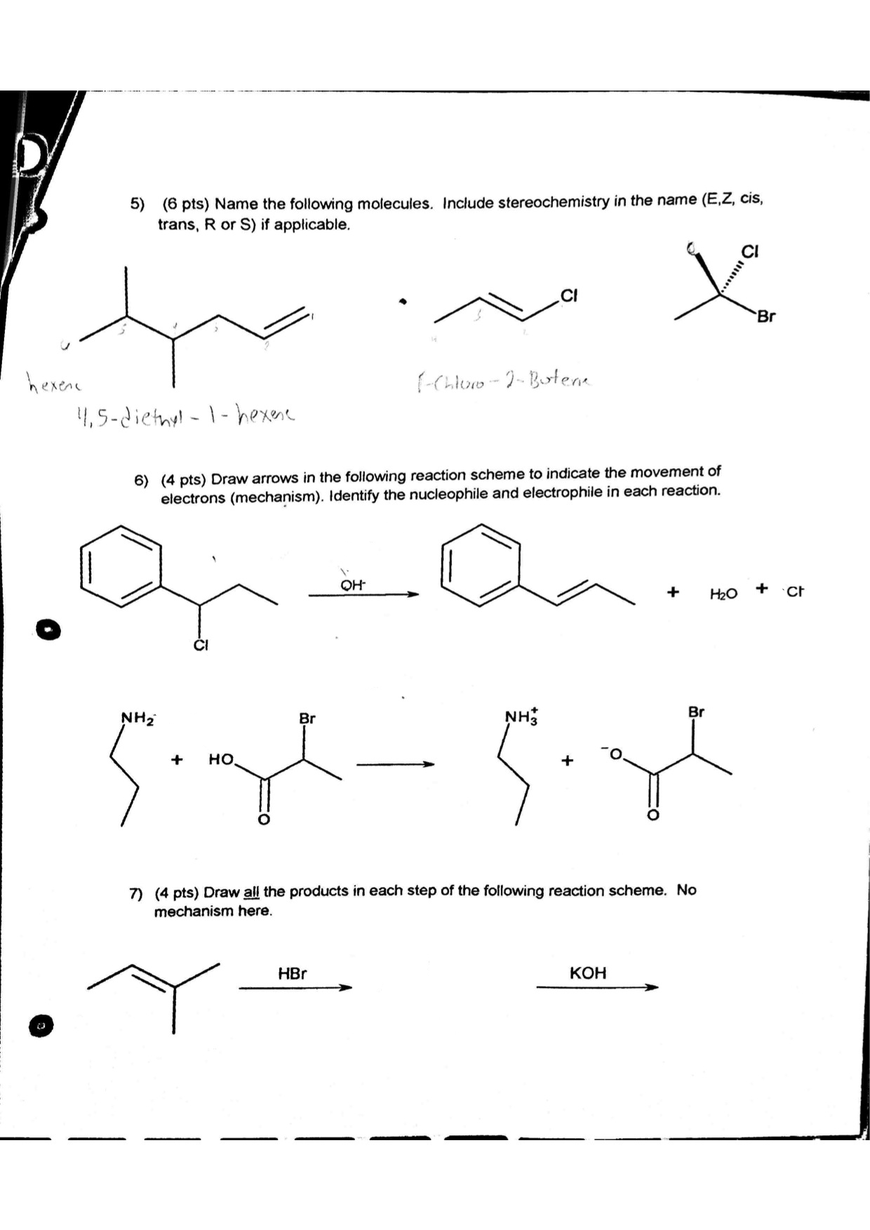 Scribble Drawing Questions : Solved draw the arrows in following reaction scheme a