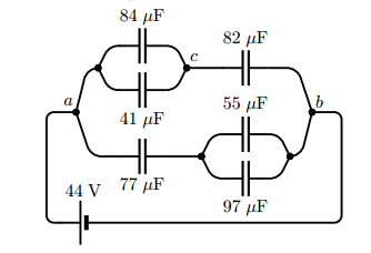 how to find equivalent capacitance in a complex circuit