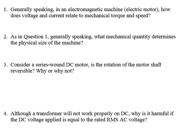 Generally speaking, in an electromagnetic machine