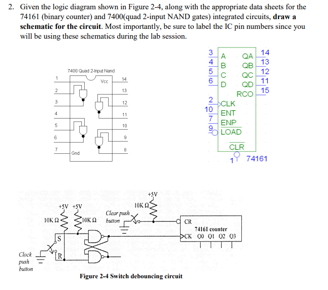 Solved: 2. Given The Logic Diagram Shown In Figure 2-4, Al ...