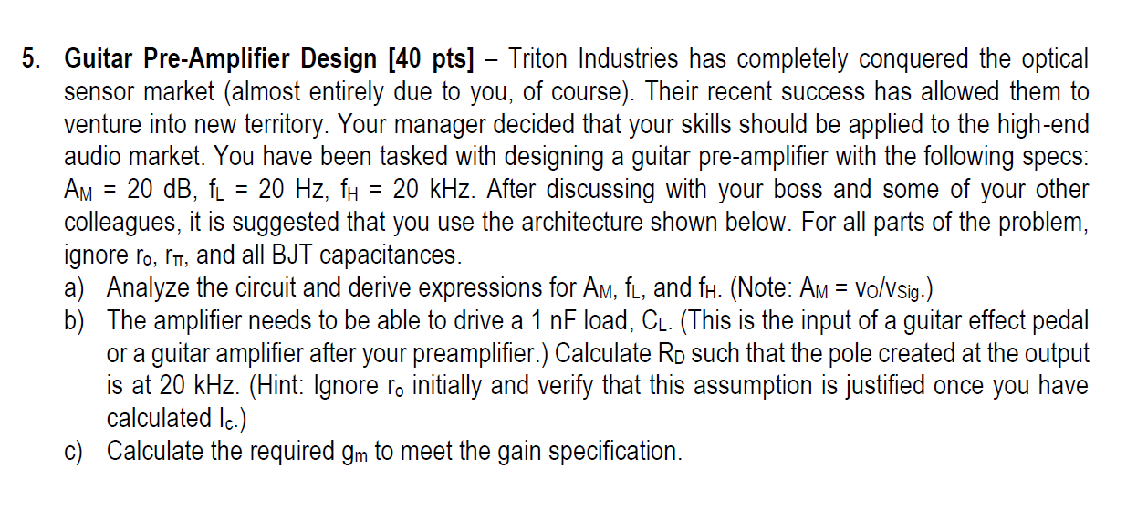 Guitar Pre-Amplifier Design Triton Industries has