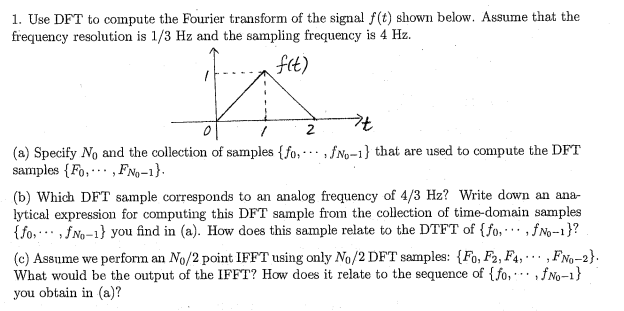 Use DFT to compute the Fourier transform of the si