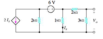 Use Thevenin's theorem to find Vo in the circuit i
