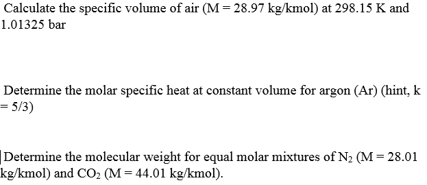 how to find specific volume of air