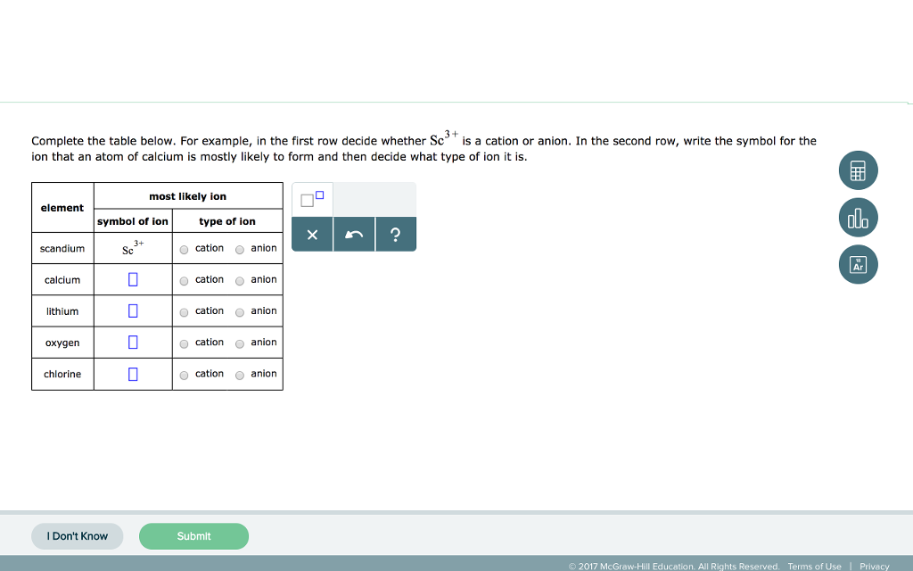 Solved: Complete The Table Below. For Example, In The Firs ...