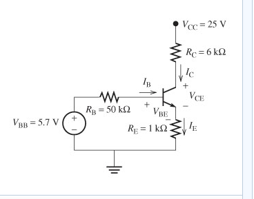 For the circuit the gain(beta)=88 a)Find Vbe b)F