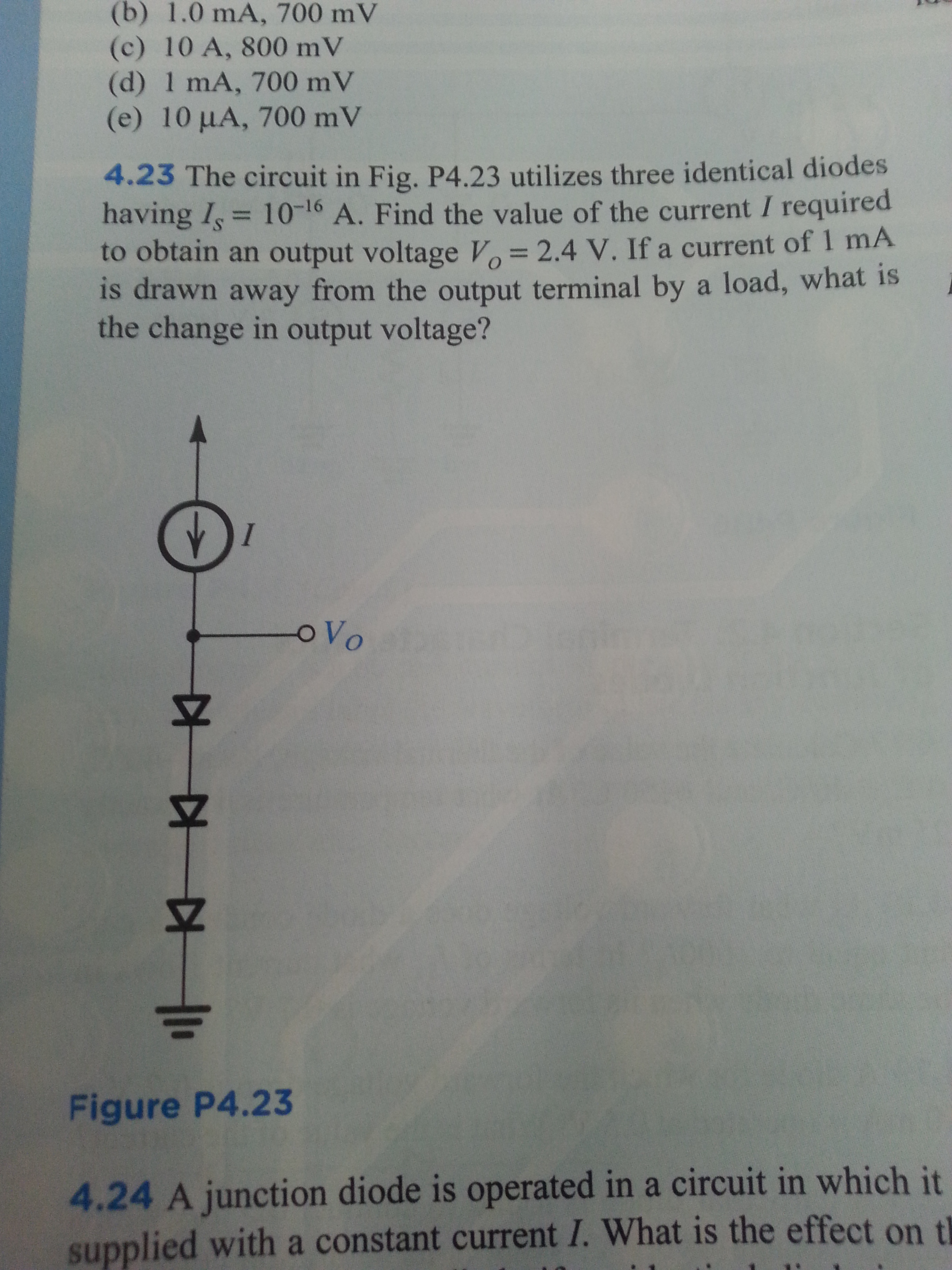 The circuit in Fig. P4.23 utilizes three identical