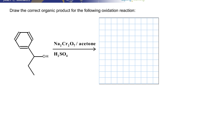 Draw The Correct Organic Product For The Following
