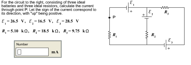 solved  for the circuit to the right  consisting of three