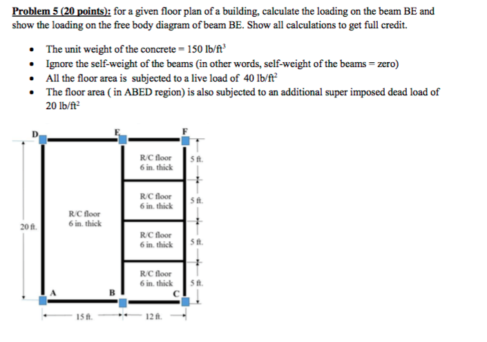 Solved for a given floor plan of a building calculate th problem 5 20 points a for a given floor plan of a building calculate ccuart Image collections