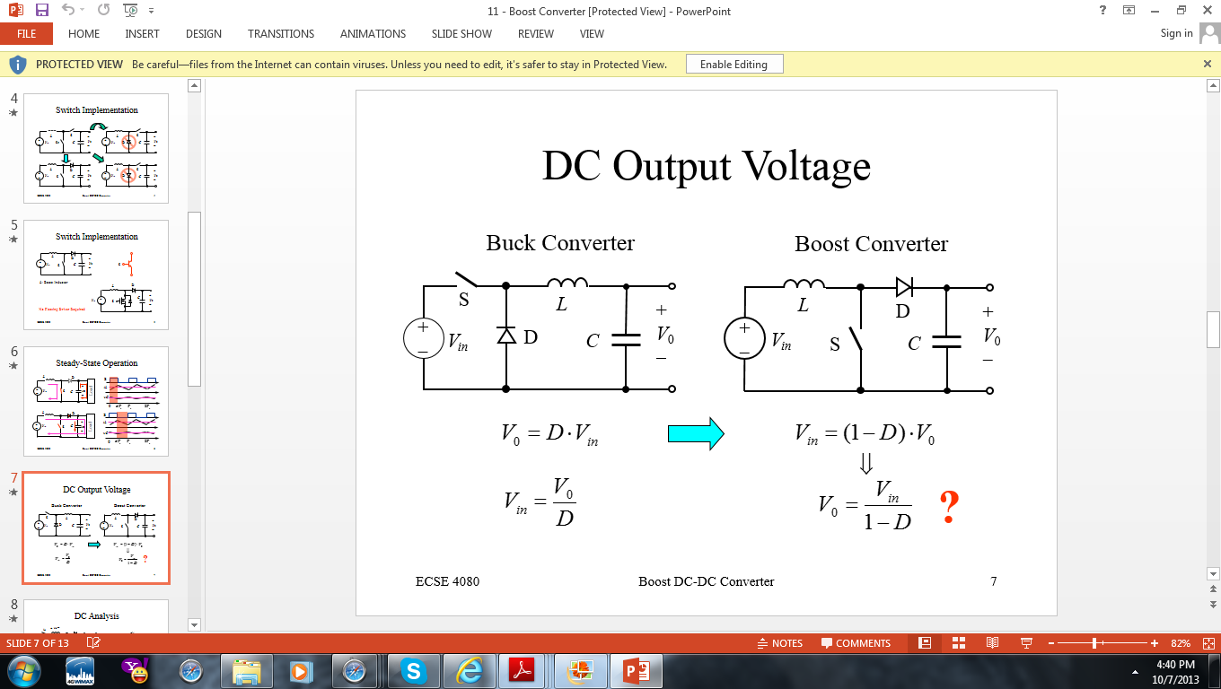 Assume that the boost converter is to operate in o
