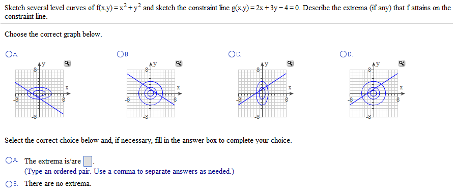 Solved: Sketch Several Level Curves Of F(x,y) = X^2 + Y^2 ...