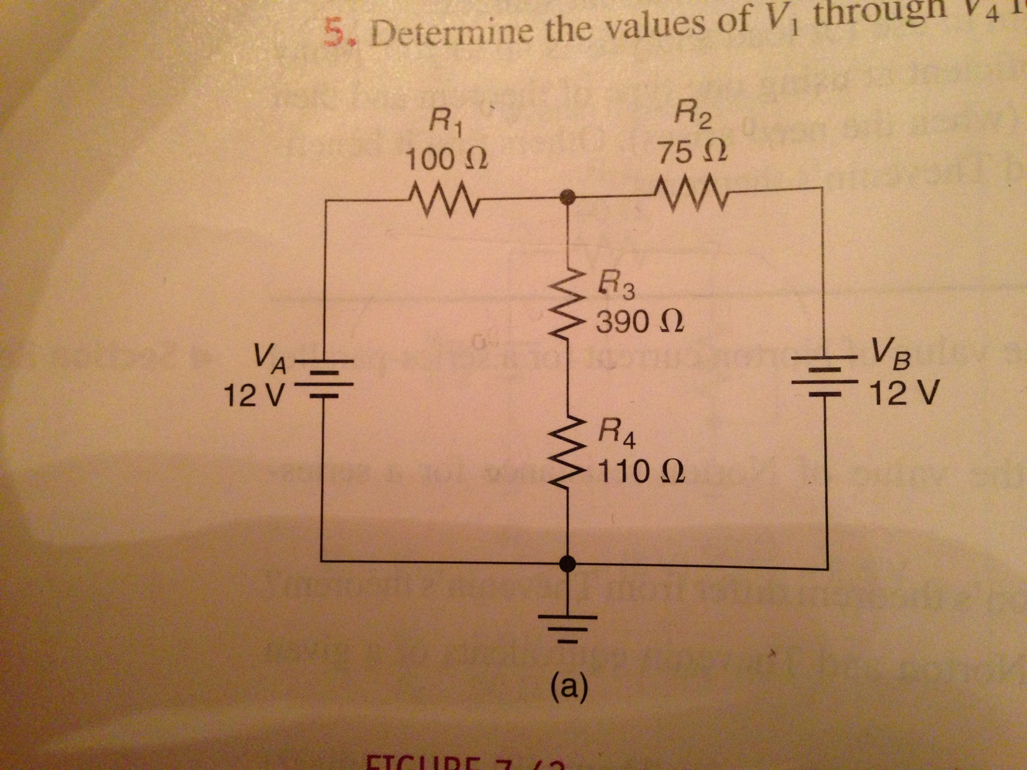 Determine the values of V1&nbs