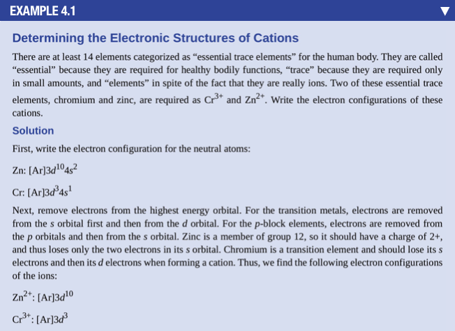 Solved Write The Electron Configurations Of These Cations