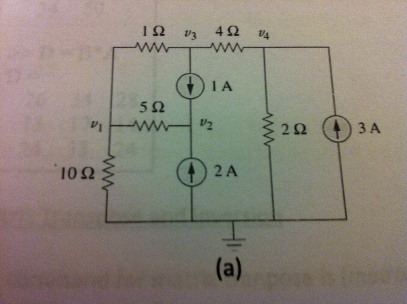 Use nodal analysis for circuit (a)