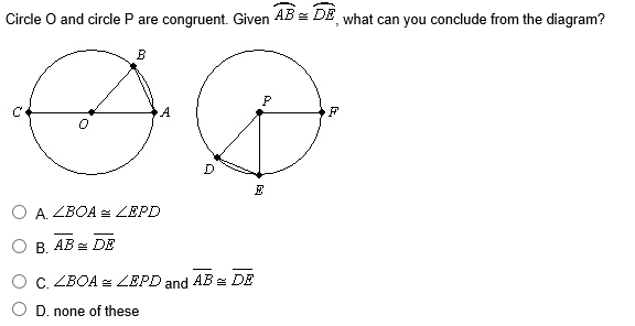 Circle O And Circle P Are Congruent. Given AB^frow... | Chegg.com