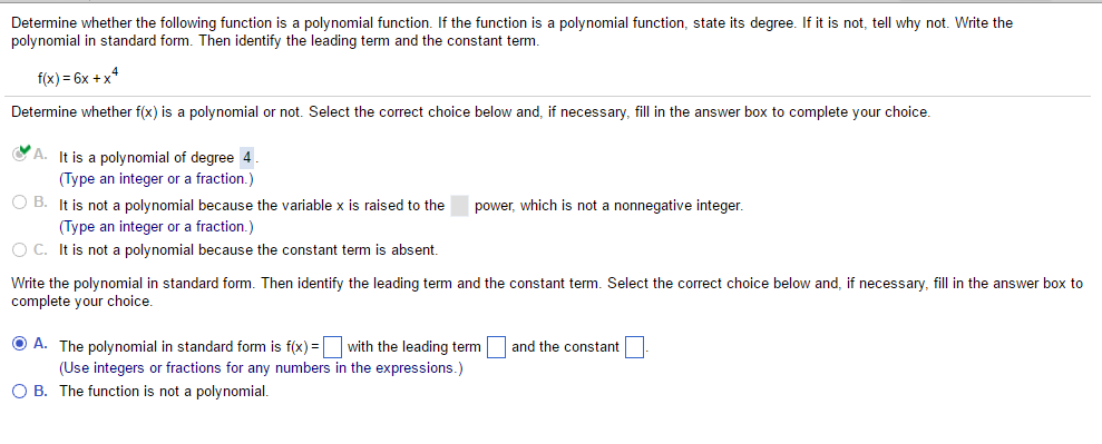 Determine Whether The Following Function Is A Poly... | Chegg.com