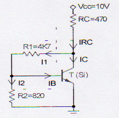 Analyze the following circuit and Calculate, Vce,