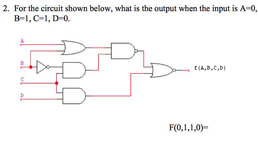 For the circuit shown below, what is the output wh