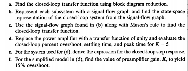 Find the closed-loop transfer function using block