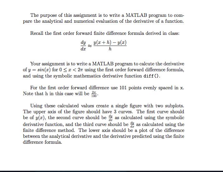 Do my matlab assignment
