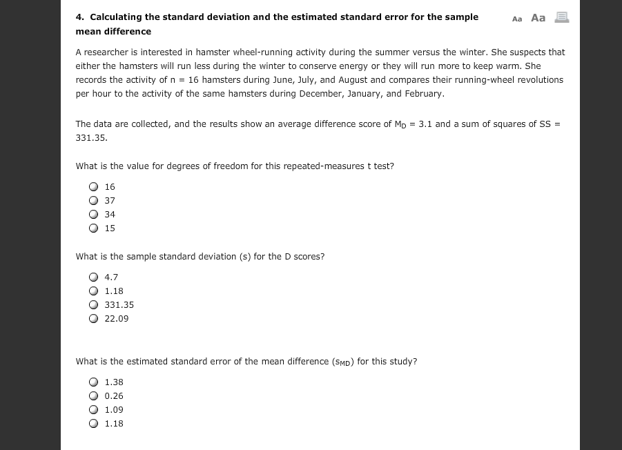 Calculating The Standard Deviation And The Estimat... | Chegg.com