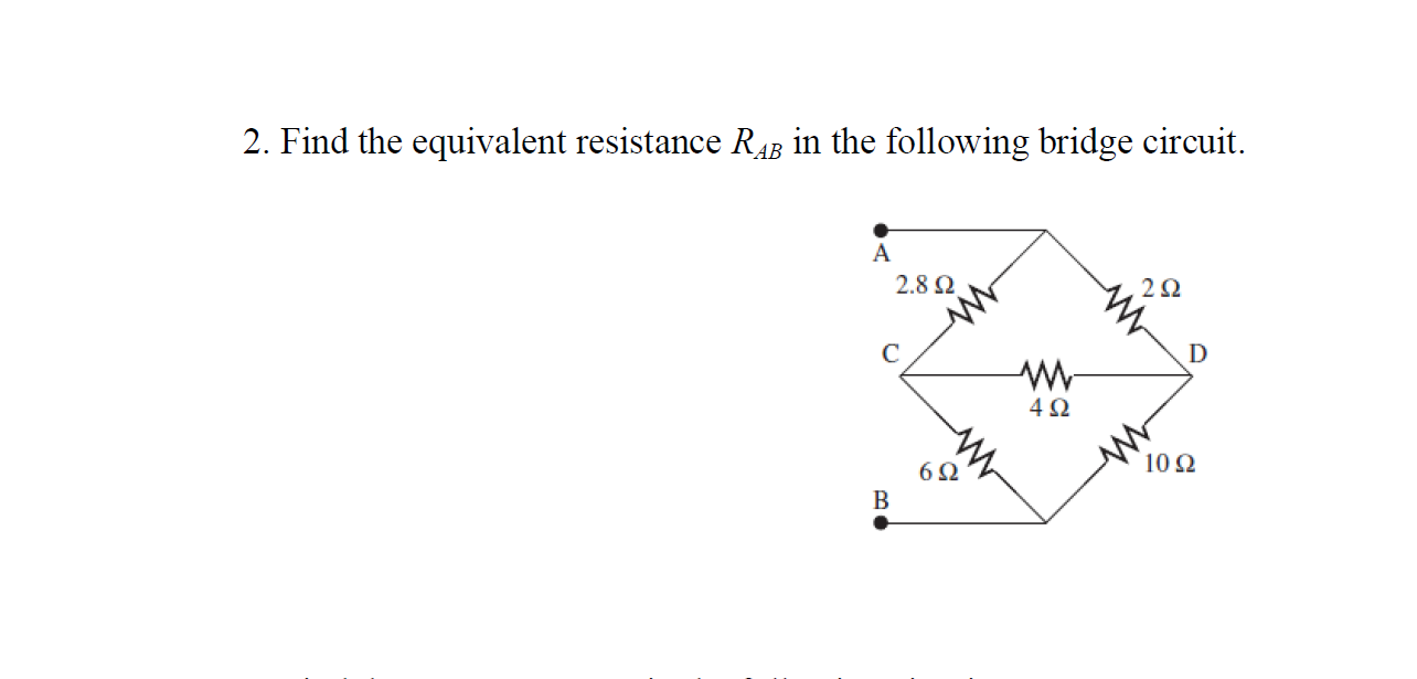 Find the equivalent resistance RAB in the followin