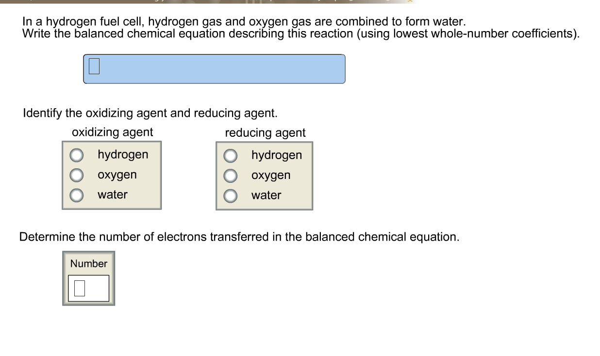 In A Hydrogen Fuel Cell, Hydrogen Gas And Oxygen G... | Chegg.com