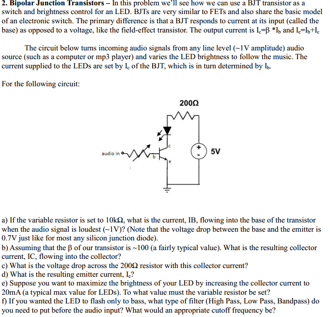 Bipolar Junction Transistors - In this problem we'