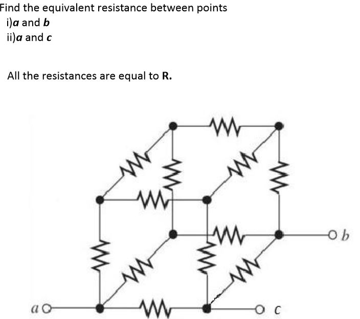 Find the equivalent resistance between points a a